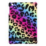 Neon Rainbow Leopard Pattern Print iPad Mini Covers
