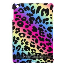 Neon Rainbow Leopard Pattern Print Ipad Mini Covers at Zazzle