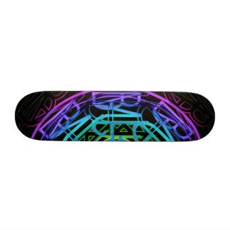 Neon Rainbow Lights Skate Deck Design
