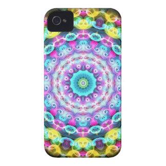 neon rainbow peacock iPhone 4 Case-Mate case