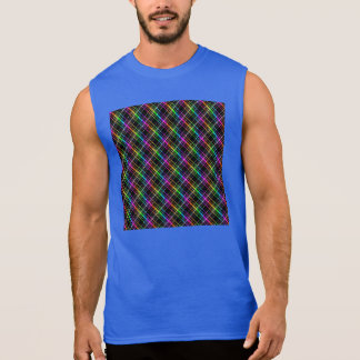Neon Plaid T Shirts & Shirt Designs #2: neon rainbow plaid on black sleeveless shirt r9034f86acf2940e987da28b e6 8nfnc 324