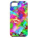 Neon Rainbow Splatter iPhone 5 Cover