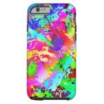 Neon Rainbow Splatter iPhone 6 Case