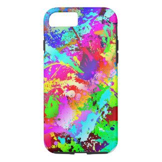 Neon Rainbow Splatter iPhone 7 Case