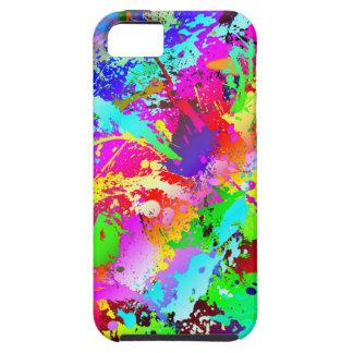 Neon Rainbow Splatter iPhone SE/5/5s Case