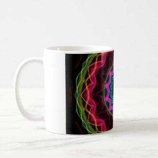 Neon Rainbow Star zazzle_mug