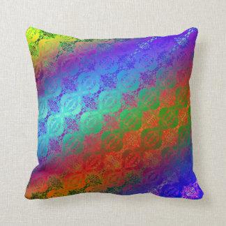 Neon Rainbow Throw Pillow