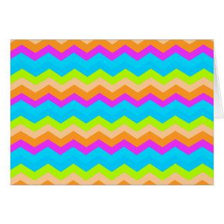Neon Rainbow Zigzag Card