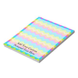 Neon Rainbow Zigzag Notepad