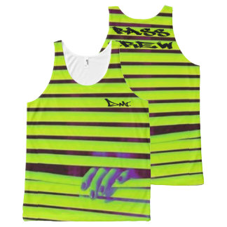 NEON RAVER VEST BY DMT All-Over PRINT TANK TOP