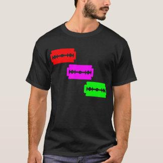 Neon Razor Blades (Red, Pink, Green) T-Shirt