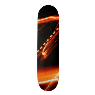 Neon Red and Orange 2 Skateboard