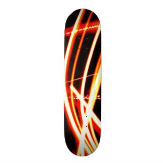 Neon Red and Orange Skateboard Deck