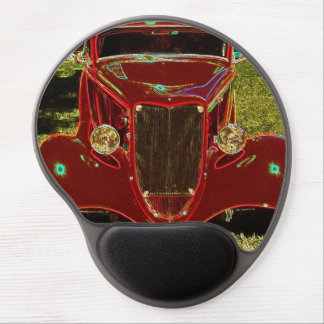 Neon Red Classic Car  Mousepad