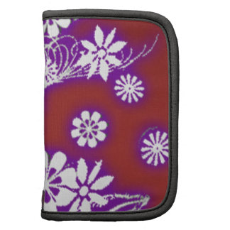 neon red floral folio planners