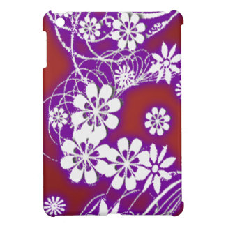 neon red floral iPad mini cover