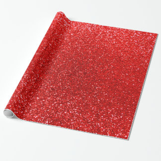 Neon red glitter wrapping paper