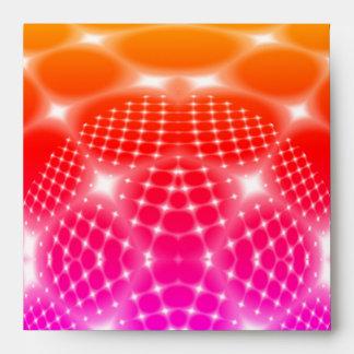 Neon red glob fractal envelope