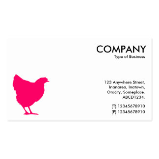 Neon Red Hen Symbol - White Business Card