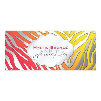Neon Red & Yellow Zebra Print Gift Certificates Card