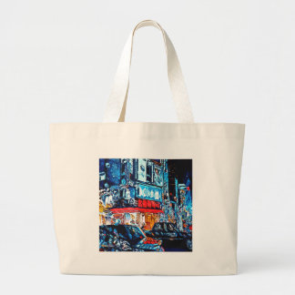 Neon Reflections Large Tote Bag