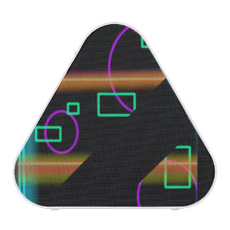 Neon Retro Abstract Chaos Pieladium Speaker