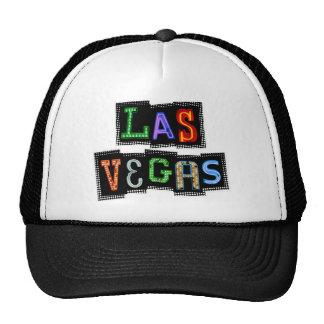 Neón retro de Las Vegas Gorros Bordados