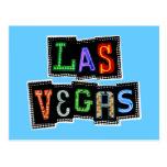 Neón retro de Las Vegas Postal