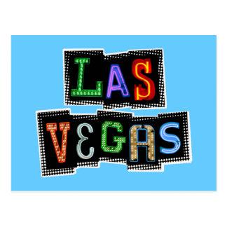 Neón retro de Las Vegas Postales