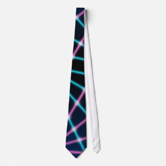 Neón retro del fondo fresco de la presentación de corbata personalizada