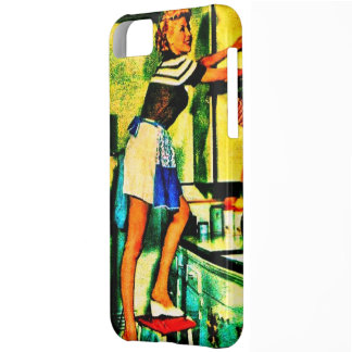 Neon Retro Housewife iPhone 5 case