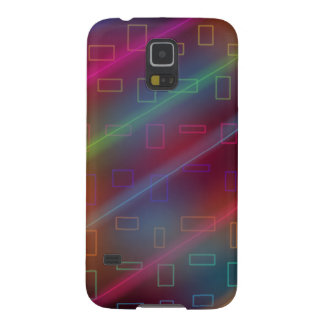 neon retro lazers and shapes samsung galaxy 5 case