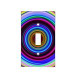 Neon Retro Spiral Circle Pattern