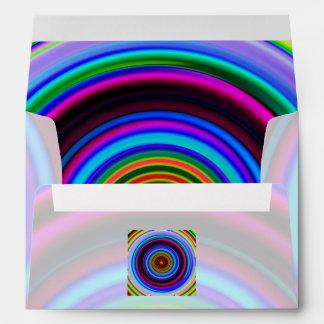 Neon Retro Spiral Circle Pattern Envelope