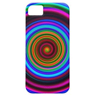 Neon Retro Spiral Circle Pattern iPhone SE/5/5s Case