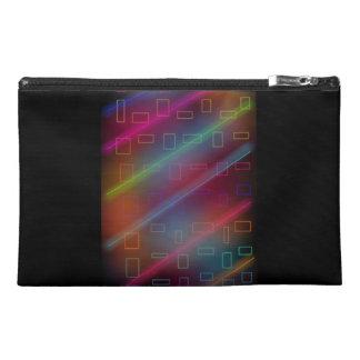 Neon Retro Techno Lazer Travel Accessory Bag