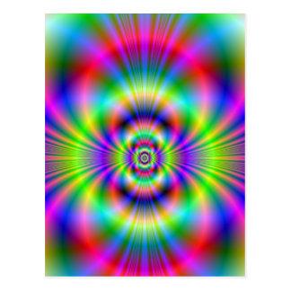 Neon Rings Postcard