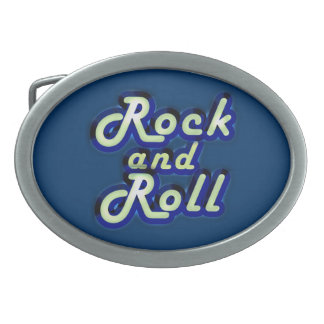 Neon Rock and Roll Belt Buckle