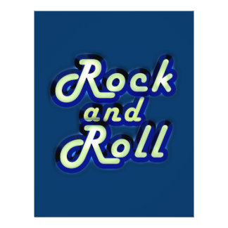 Neon Rock and Roll Full Color Flyer