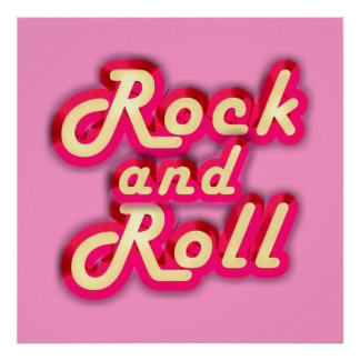 Neon Rock and Roll Poster