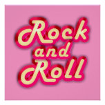 Neon Rock and Roll Posters