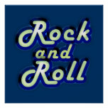 Neon Rock and Roll Print