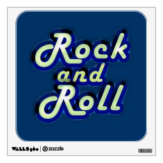 Neon Rock and Roll Room Stickers