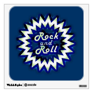 Neon Rock and Roll Wall Sticker