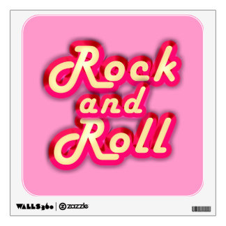 Neon Rock and Roll Wall Skins