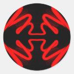 Neón rojo por CricketDiane Pegatina