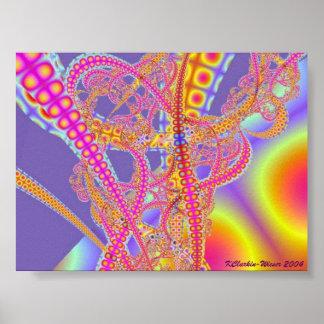 Neon Rollercoaster Print
