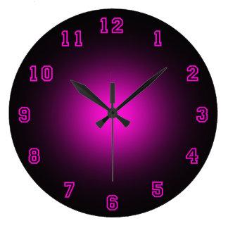 Neón rosado 10 75 reloj de pared