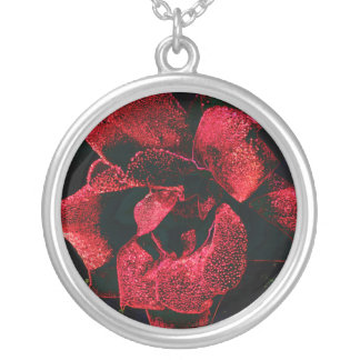 Neon Rose 1 Silver Plated Necklace