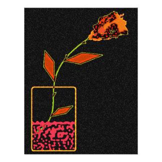 Neon Rose Custom Letterhead